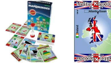 Travel games: Mapominoes