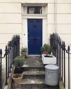 Weekend in London LDN doors Georgian architecture blue plants Londonhellip